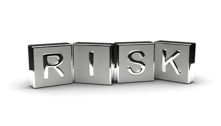 Metal Risk Text Isolated on white background Stock Photo