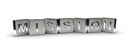 Metal Mission Text isolated on white background