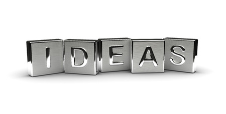 Metal Ideas Text isolated on white background Stock Photo
