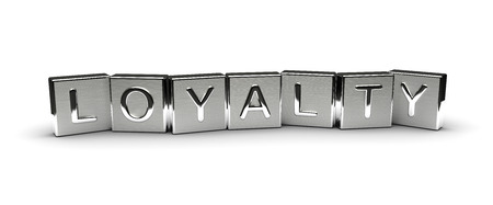 Metal Loyalty Text isolated on white background