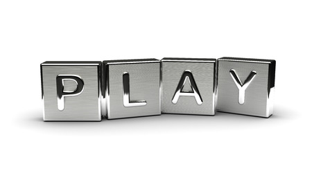 Metal Play Text Isolated on white background