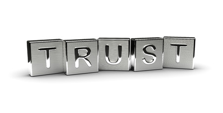 Metal Trust Text Isolated on white background