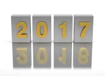 Neues Jahr 2017 und alt 2016 Lizenzfreie Bilder