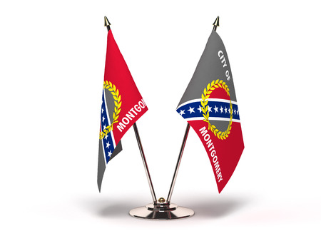 Alabama Montgomery Flag (Flags Isolated with clipping path) 版權商用圖片