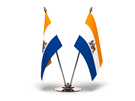 New York Albany Flag (Flags Isolated with clipping path)