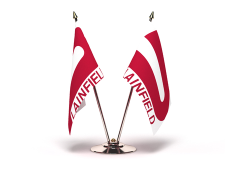 Indiana Plainfield Flag (Flags Isolated with clipping path) 版權商用圖片