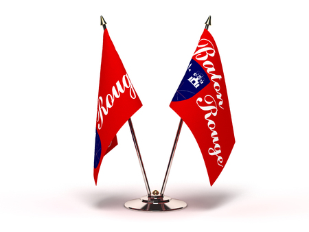 Louisiana Baton Rouge Flag (Flags Isolated with clipping path) 版權商用圖片