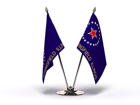 Illinois Springfield Flag (Flags Isolated with clipping path)