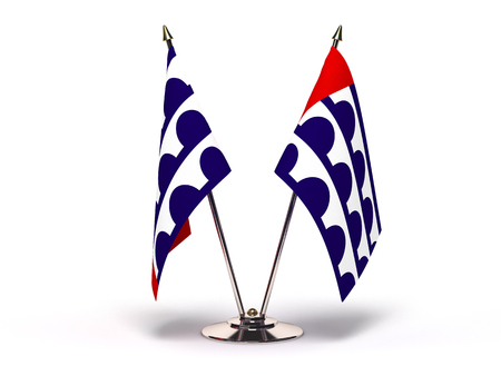 Iowa Des Moines Flag (Flags Isolated with clipping path) Banque d'images