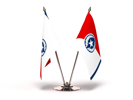 Tennessee Chattanooga Flag (Flags Isolated with clipping path)