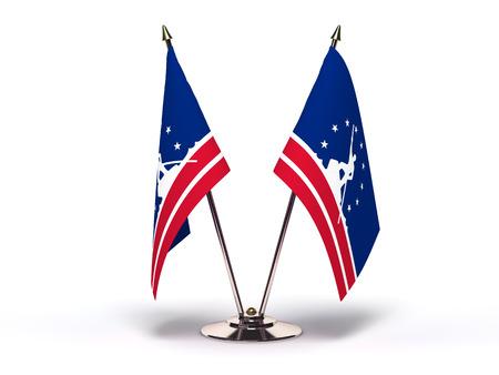 Virginia Richmond Flag (Flags Isolated with clipping path) 版權商用圖片