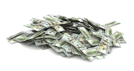 Stack of US Dollars (Isolated on white background)