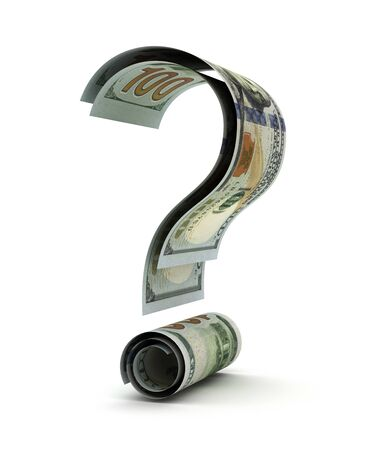 US Dollar and Question Mark