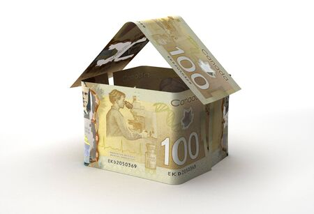Real Estate Concept with Canadian Dollars (Isolated by clipping path) Banque d'images