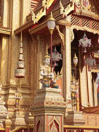 bejaratana: thai style angelic figure on Cremation of Her Royal Highness Princess Bejaratana at Sanam-Luang, Bangkok, Thailand
