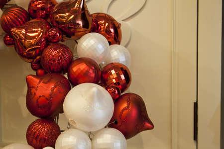 red white toys like cristmas tree photo