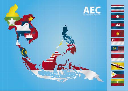 AEC, ASEAN Economic Community Ilustrace