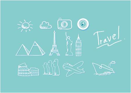 colloseum: Travel clipart stock vector simple style