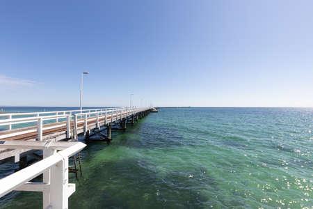 Busselton Jetty, Western Australia is the second longest wooden jetty in the world at 1841 meters long. Фото со стока