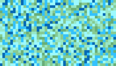 Pattern of blue, green square background, square seamless pattern, vector.