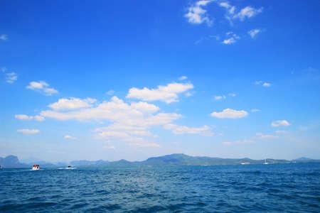 blue sky with deep blue sea at krabi. photo