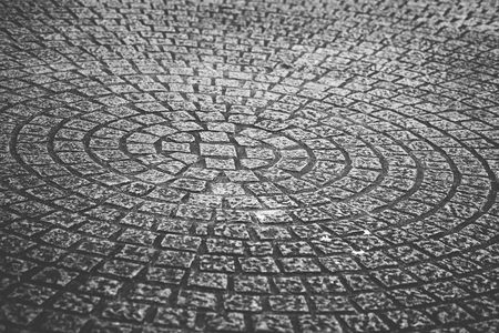 even: Stone square texture in round shape form