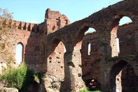 vecchie rovine roccaforte medievali in Slimnic, Romania