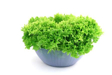 fresh green salad close up as healthy food alternative Archivio Fotografico