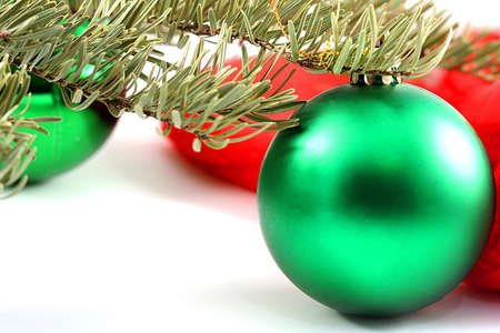 Christmas baubles in a specific winter holiday decoration