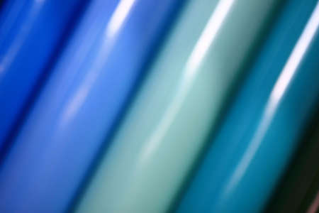 colored vinyl tubes as an abstract blurred