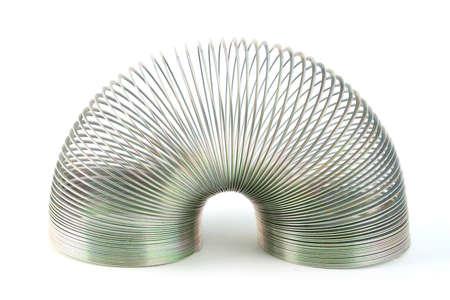 metal spring: Mini metal spring isolated on white  Stock Photo