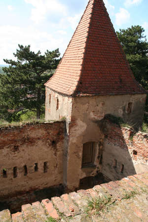 stronghold: Old medieval stronghold ruins in Slimnic, Romania