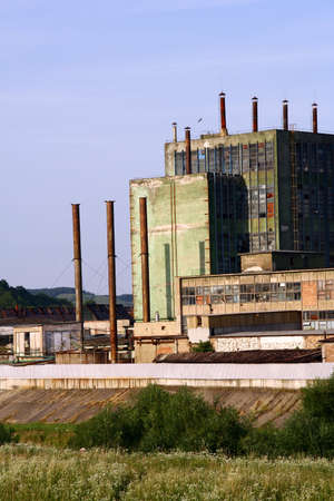 Old factory in a romanian town in transilvania Stock Photo