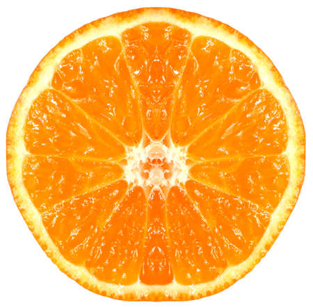tast: Fresh mandarin and orange close-up on a white