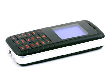 handsfree phone: Modern mobile phone on a gold surface Stock Photo