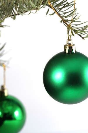 christmas baubles in a specific winter holiday decoration Archivio Fotografico