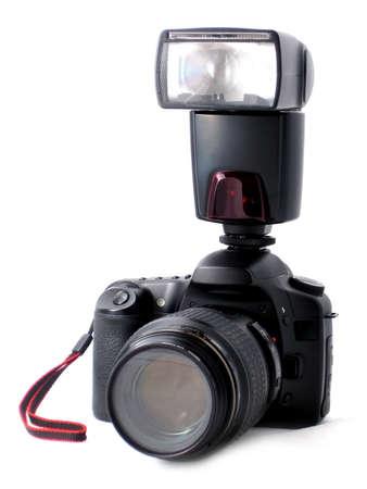 highend: Digital dslr photo camera isolated on white Stock Photo