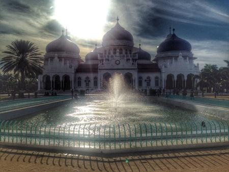 伟大的Baiturrahman清真寺在Banda Aceh印度尼西亚