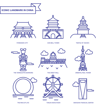 Landmark icon in China