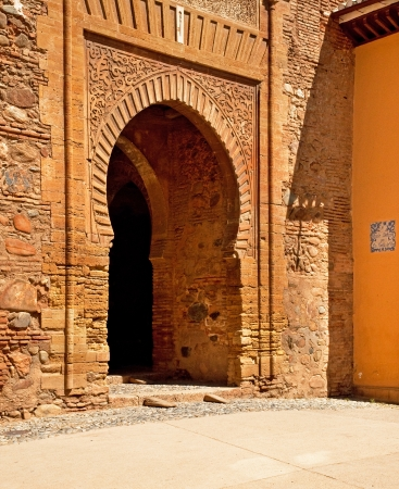 Door details of the Alhambra in Granada, Spain photo