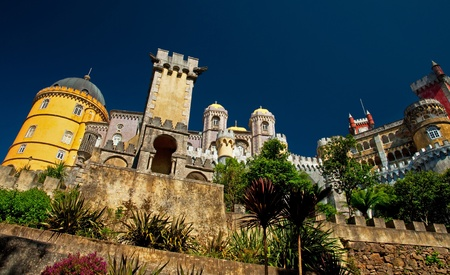 Detail of the famous Palace of Sintra, Portugal