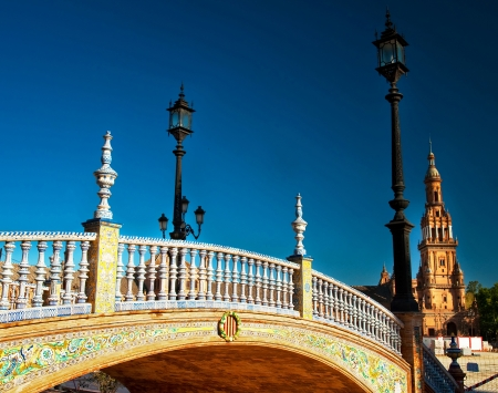 Old town in Spain in Seville
