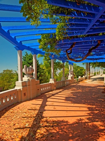 Nice pergola in the park at summer  Stock Photo - 15851838