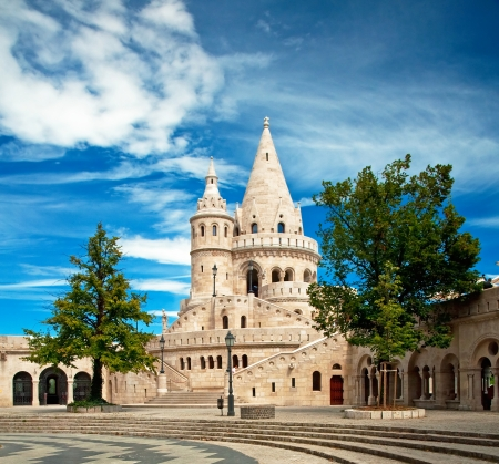 bastion: Fishermen s bastion in Budapest, Hungary