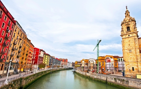 Nice view on the famous city of Bilbao, Spain