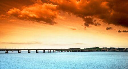 Nice sunset at Dundee, Scotland Stock Photo