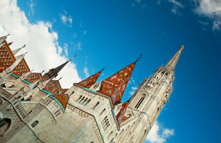 neogothic: The famous neo-gothic church of Budapest, Hungary  Stock Photo