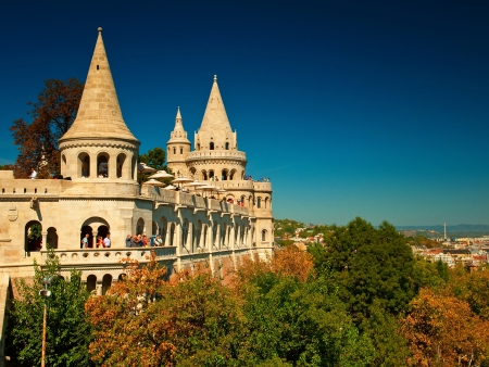 schulek: Fisherman s bastion in Budapest, Hungary  Editorial