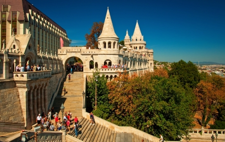 Fisherman s bastion in Budapest, Hungary  Editorial