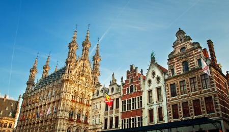 Grote Markt, Leuven Stock Photo
